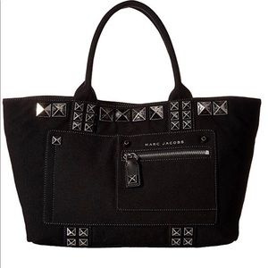 Marc Jacobs Canvas Chipped Studded Tote- ChicEwe